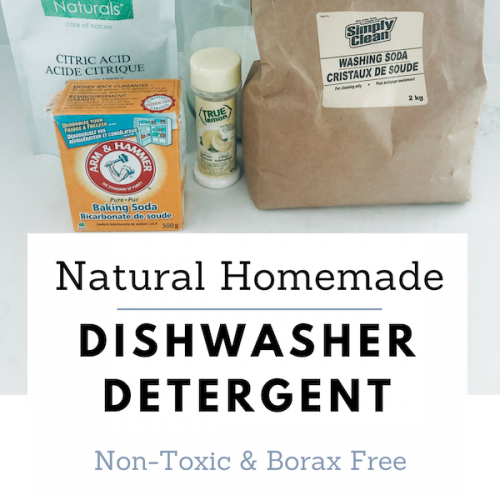 Homemade Natural Dishwasher Detergent