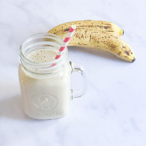 high-protein banana bread smoothie