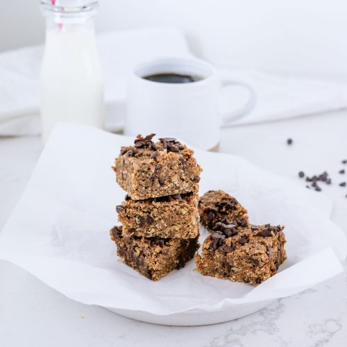 Peanut butter oatmeal blondies {GLuten-free and Vegan}