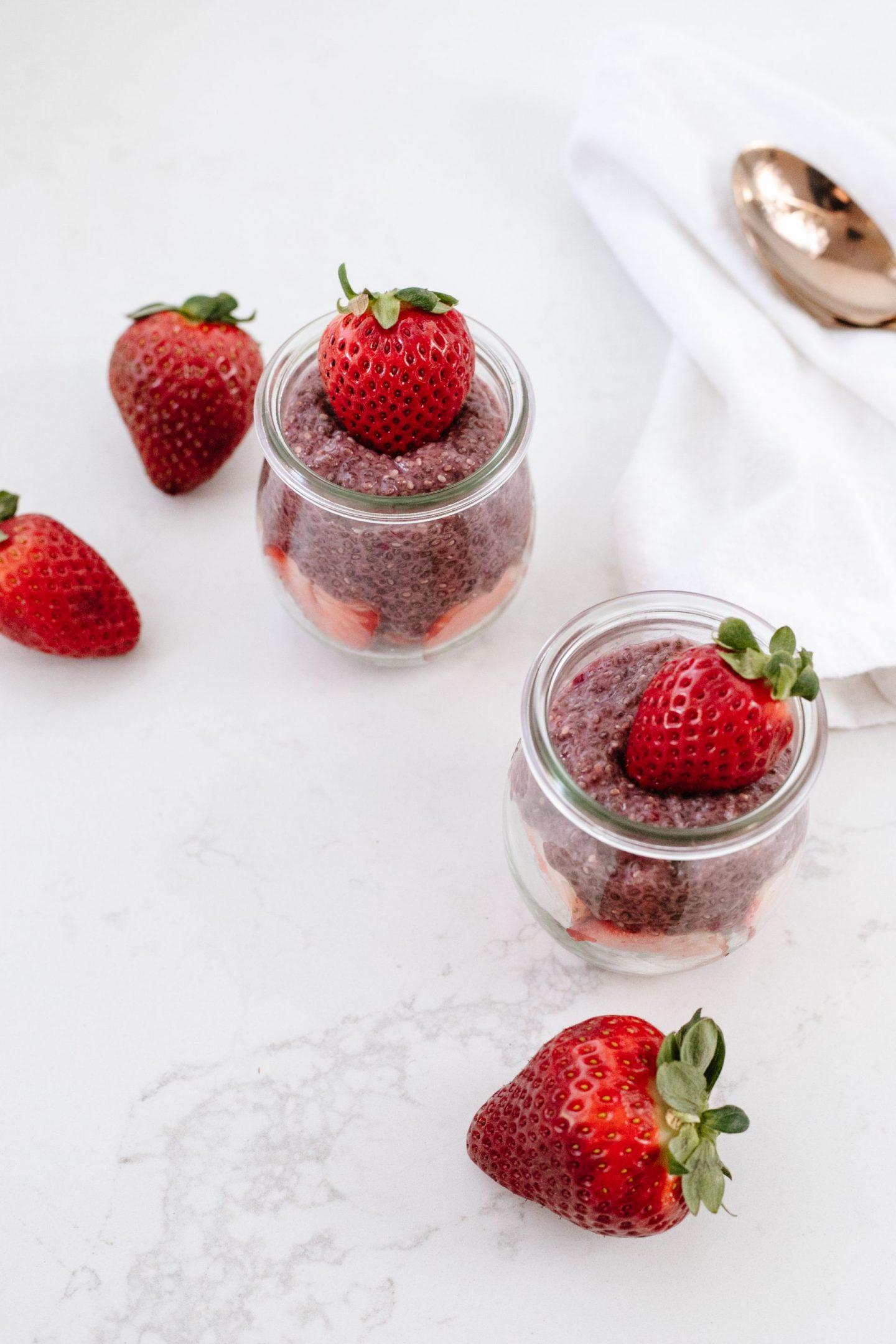 Easy Strawberry Chia Pudding