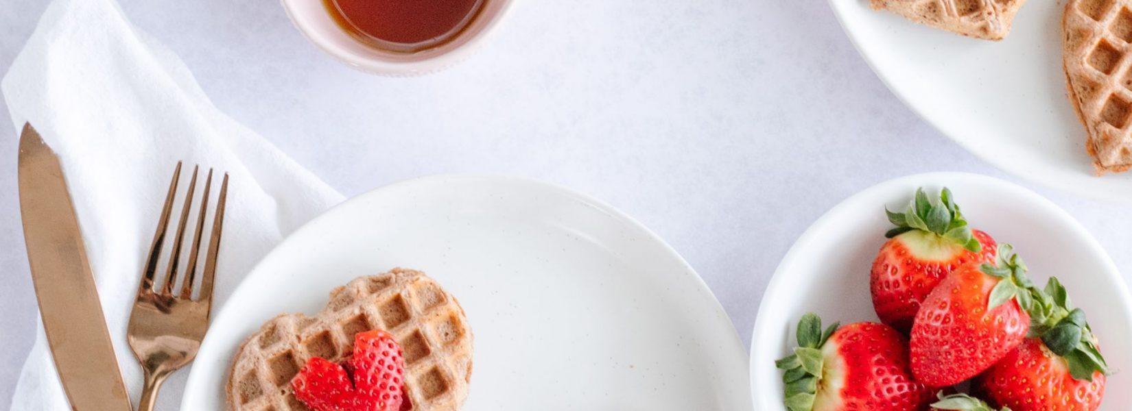 healthy spelt waffles or pancakes
